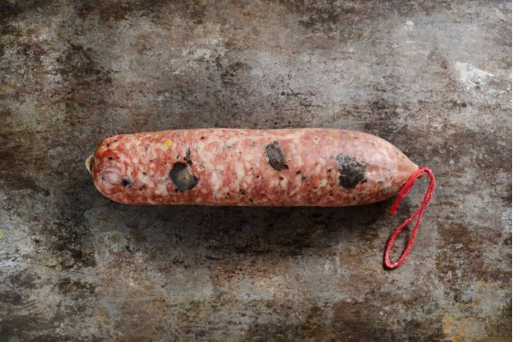 Saucisson à cuire truffé (3%) et pistaché
