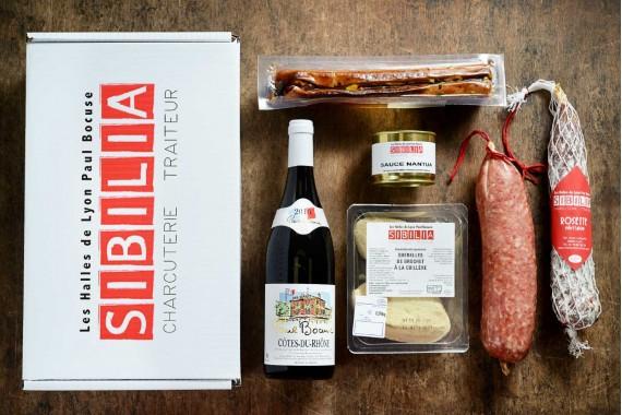 """Coffret gourmand Sibilia, formule """" Repas lyonnais"""""""