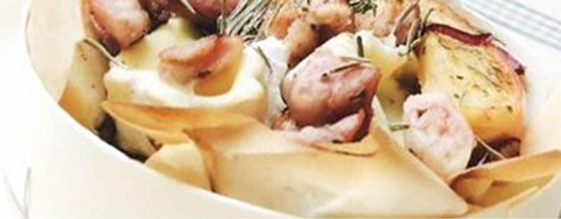 Recette de l'Andouillette aux Pommes et Camembert